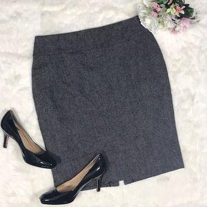 Cabi Tweed Wool Blend Pencil Skirt Size 8